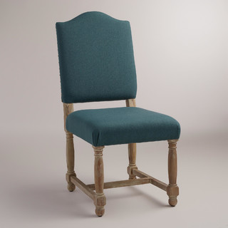 Teal Blue Maddox Chairs Set Of 2 Contemporary Dining Chairs