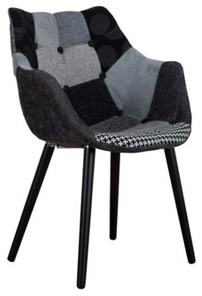 fauteuil zuiver eleven patchwork gris et noir contemporary dining chairs by inside75. Black Bedroom Furniture Sets. Home Design Ideas
