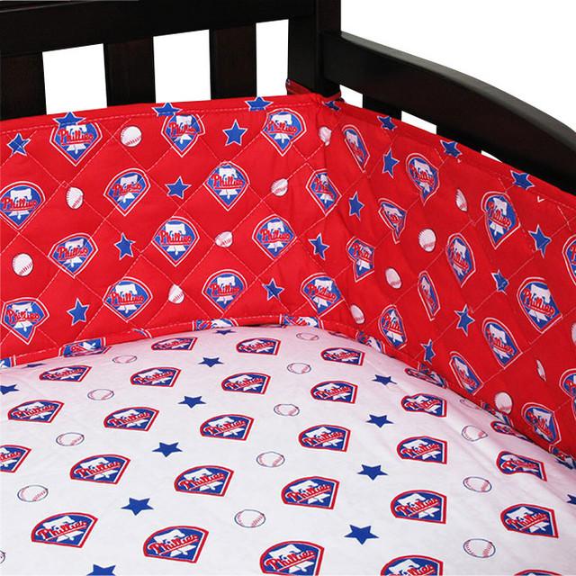 Mlb Philadelphia Phillies Crib Bumper Baseball Baby