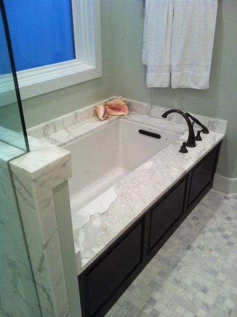 Calacatta Gold Marble Tub Undermount Contemporary