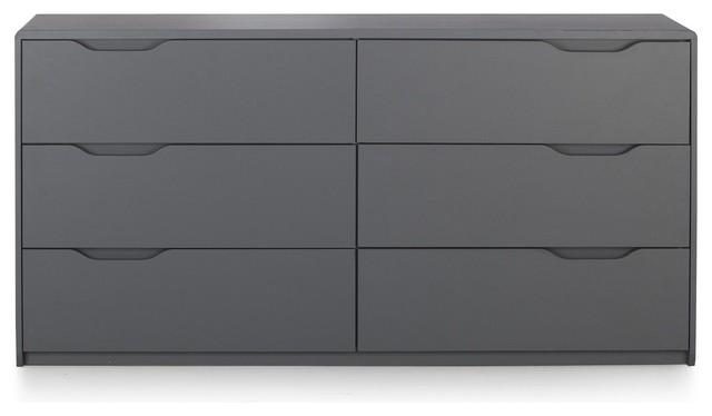 cool commode grise 2x3 tiroirs contemporain commode et chiffonnier par alin a mobilier d co. Black Bedroom Furniture Sets. Home Design Ideas