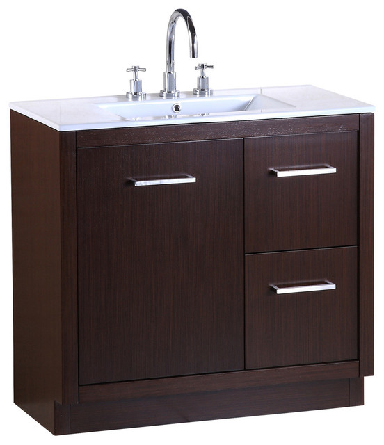Bellaterra 36 Inch Single Sink Vanity Contemporary Bathroom Vanities And Sink Consoles By