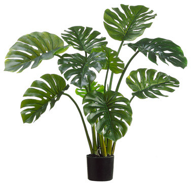 Silk Plants Direct Split Philodendron Leaf Plant Pack Of