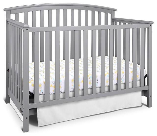 Graco Freeport 4 In 1 Convertible Crib Pebble Gray