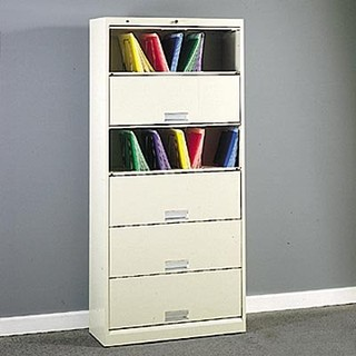 HON 626 Series 6-Shelf Lateral Door File Cabinet - Modern - Home Office Accessories - by Hayneedle
