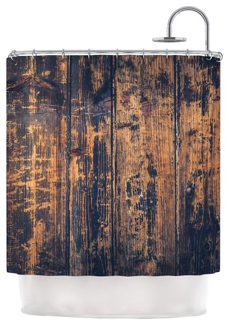 Susan Sanders Barn Floor Rustic Shower Curtain