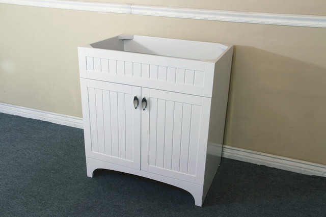 Bellaterra 7615 32 in single sink vanity wood white for Bathroom cabinets uk only