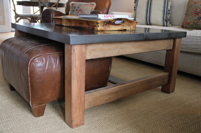 coffee table with storage ottomans underneath | home hold design