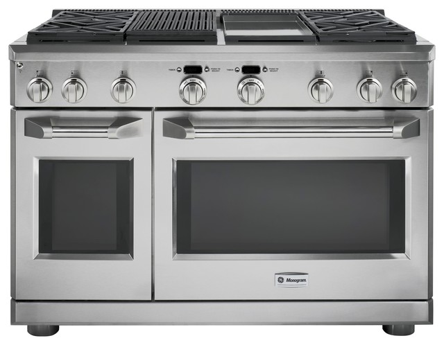 Electric Kitchen Stoves With Grills ~ Ge monogram quot professional range with four gas burners