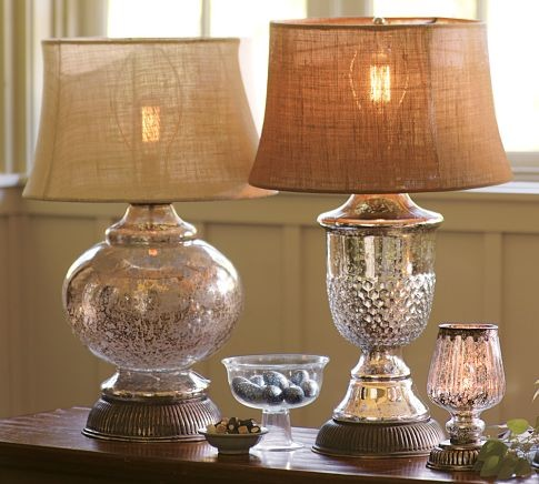 Serena Antique Mercury Glass Lamp Bases Traditional
