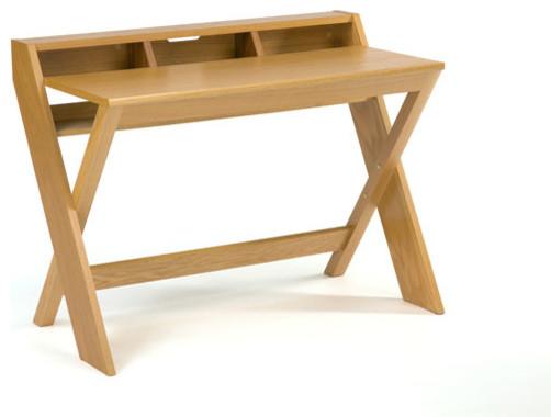 bureau design compact en ch ne 110 cm contempor neo escritorios de. Black Bedroom Furniture Sets. Home Design Ideas