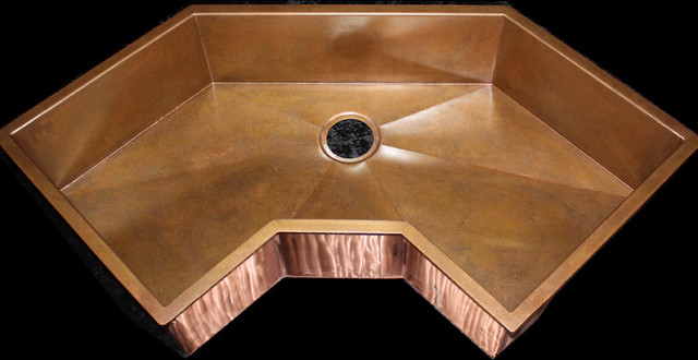 Custom Corner Copper Sink By Rachiele Eclectic Kitchen Sinks Other Metro By Rachiele Llc