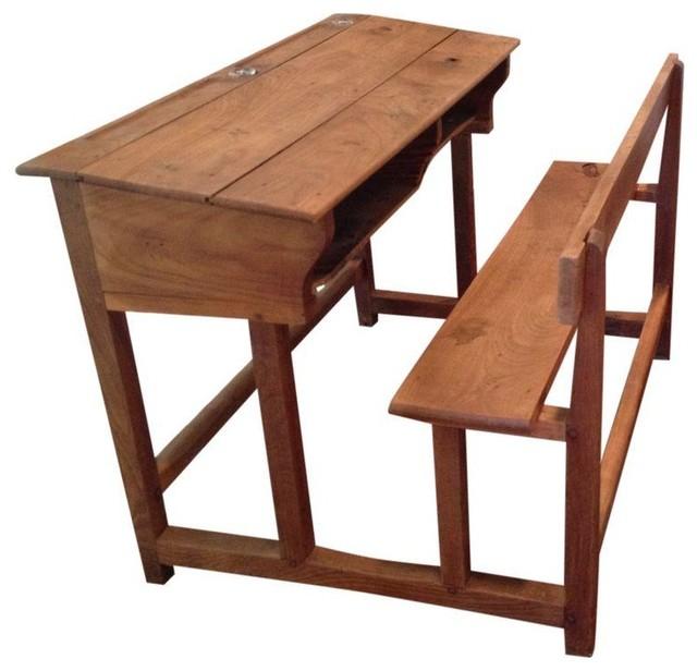 Antique Wooden School Desk - Modern - Desks And Hutches ...