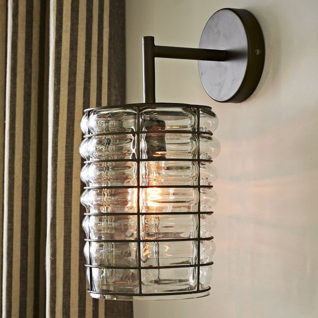 Wall Sconces Blown Glass : Linear Blown Glass Sconce - Contemporary - Wall Sconces - by West Elm