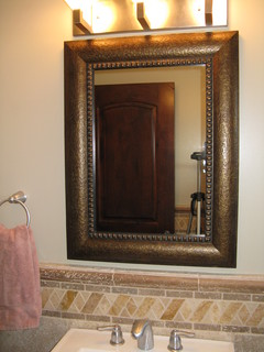 New SavannahProvidence Mirror Sable  Traditional  Bathroom Mirrors