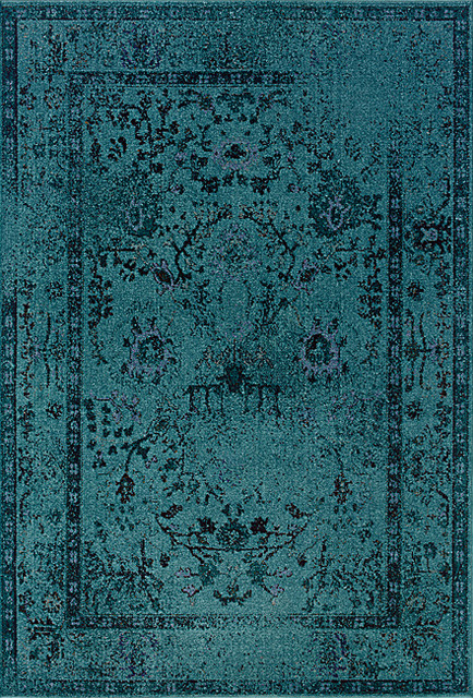 Teal Gray Area Rug Eclectic Rugs By Overstock Com