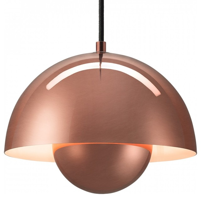Panton Flowerpot Pendant Copper Modern Pendant Lighting Other Metro By Red Candy