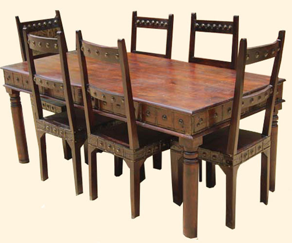 Camelot Mahogany 7pc Dining Table And Chair Set Traditional Austin
