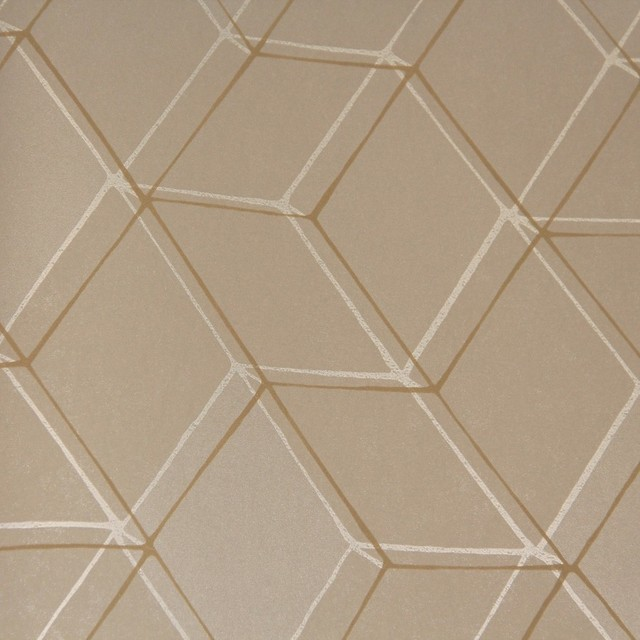 Diamond illusion wallpaper fallow brown double roll - Illusion wallpaper for walls ...