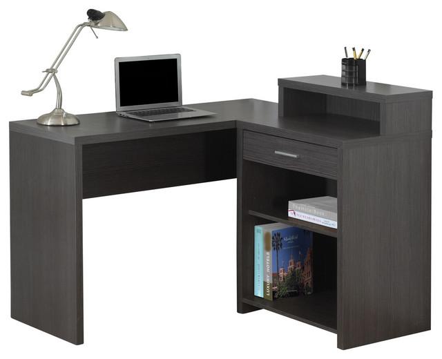 Corner Computer Desk With Storage - Desks And Hutches - by YoloStocks