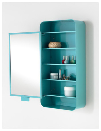 Gunnern mirror cabinet with 1 door blue contemporary - Armoire a pharmacie ikea ...
