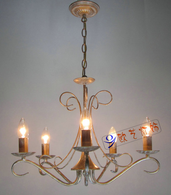 European style 5 light chandelier with white candle shade 072245p traditional chandeliers - Popular chandelier styles ...