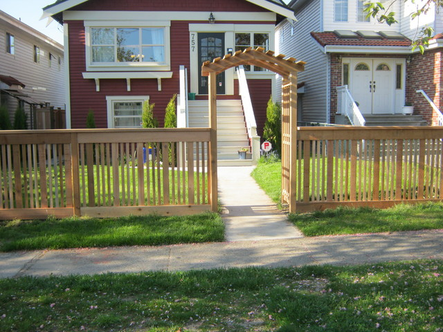 Modern Backyard Fence : Front yard fence vancouver BC  Modern  other metro  by Quality