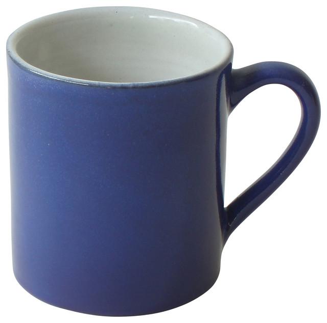 Royal coffee mug blue and white contemporary mugs for Blue mug designs