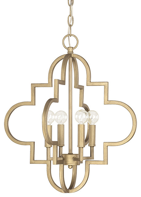 Capital Lighting Ellis Quatrefoil 4 Light Pendant Small