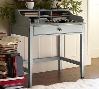 Jacqueline Bedside Secretary Desk Blue - Traditional - Nightstands And ...