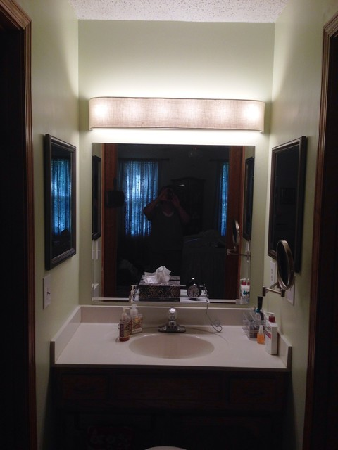 Vanity Lights Of Vegas : Custom Lampshade - Bathroom Vanity - Linen Solids - Cream - Lampshade