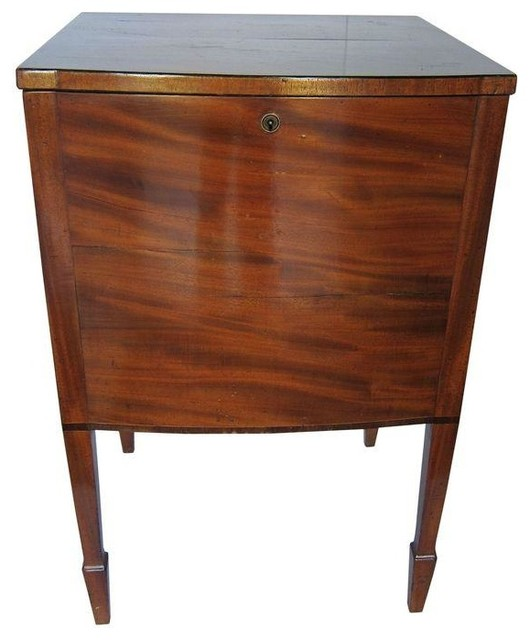 Antique Locking Liquor Cabinet/Table - Nightstands And Bedside Tables - by Chairish