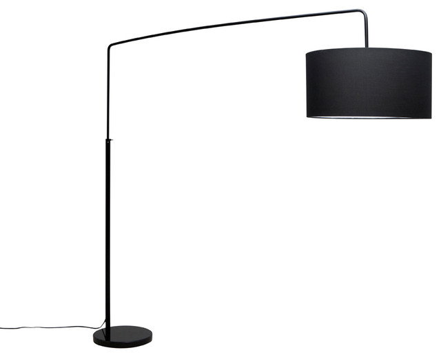 Raku Floor Lamp Black