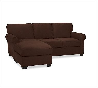 Buchanan upholstered 2 piece sectional with chaise for Buchanan chaise sofa from pottery barn