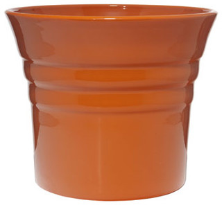 Large Flared Ceramic Cachepots Contemporary Plant Pots