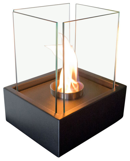 Lampada Personal Tabletop Ethanol Fireplace Contemporary Tabletop Fireplaces By Bluworld