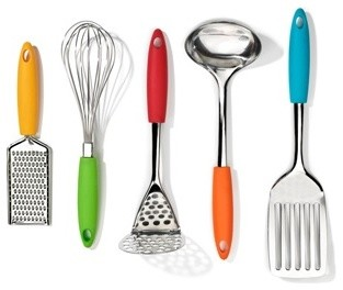 five piece gadget set modern cooking utensils by the