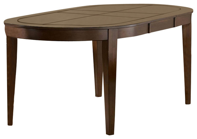 Wooden Oval Dining Table with Butterfly Leaf  : contemporary dining tables from houzz.com size 640 x 452 jpeg 33kB