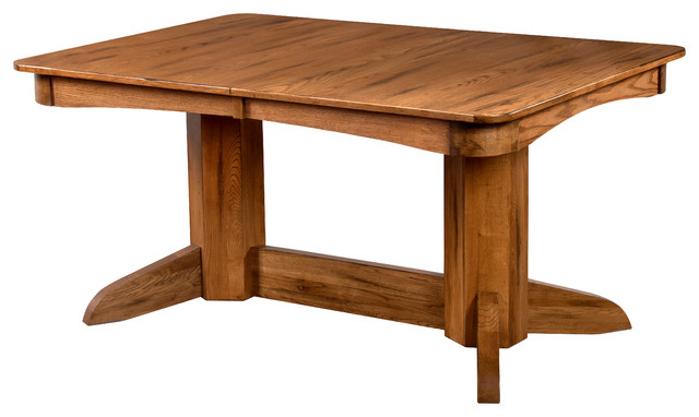 Sedona Trestle Extension Table With Leaves Traditional  : traditional dining tables from www.houzz.com size 640 x 382 jpeg 45kB