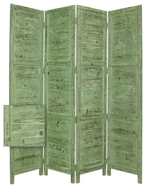 Nantucket Screen Green Farmhouse Screens And Room Dividers By Screen G