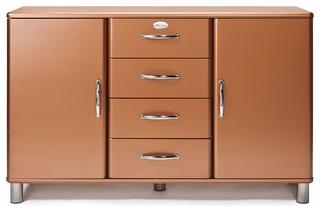 malibu grand buffet 4 tiroirs 2 portes cuivr r tro. Black Bedroom Furniture Sets. Home Design Ideas