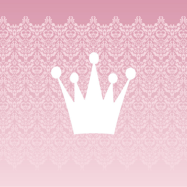 Baby Crown Wall Decor : Homeworks etc white princess crown damask canvas wall art