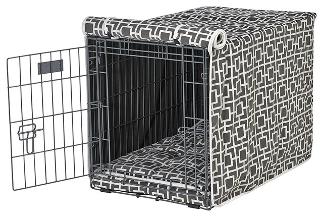 Contemporary Courtyard Covering : Lux Crate Cover, Courtyard Grey Extra Large contemporary-dog-kennels ...