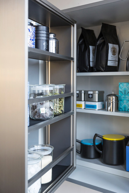 interior contemporary kitchen cupboard organisers