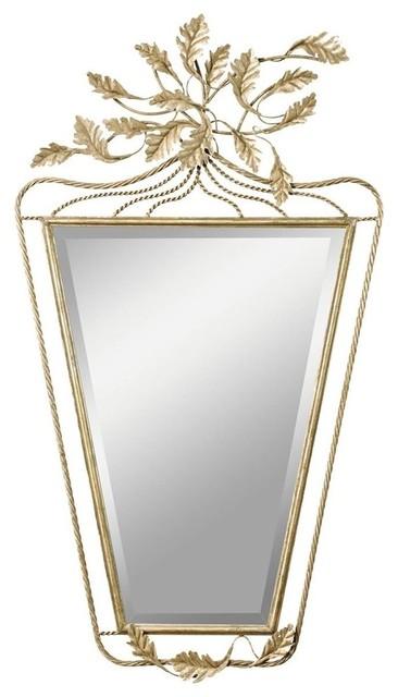 Kichler foglia decorative mirror in antique silver for Cheap silver mirrors