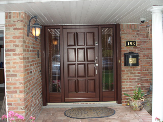 Grand entrance in roslyn ny long island traditional for Bathroom door designs india