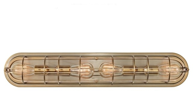 Vanity Light Strip Cover : 4-light Dark Antique Bronze Vanity Strip - Contemporary - Bathroom Wall Lights - by Overstock.com