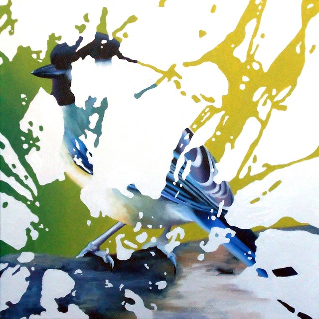 Bird Poop, Original, Painting - Contemporary - Paintings - by Zatista