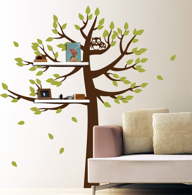 Superb Wall Stickers Tree With Shelves : All Products / Home Decor / Wall Decor /  Wall Part 28