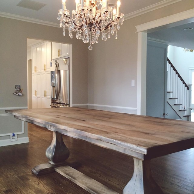 Belly Pedestal Tables Traditional Dining Room